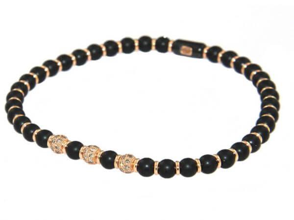 Armband schwarze Keramik, mit Diamanten