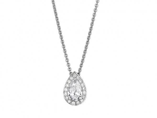 Collier mit Tropfen Diamant 1,0 ct