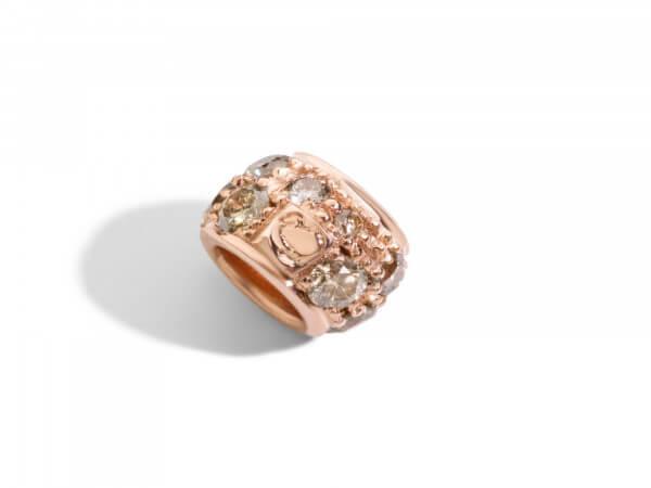 Rondella Roségold mit braunen Diamanten