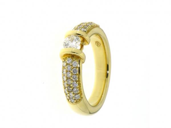 Ring 750 Gelbgold Brillanten