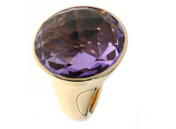 Ring 750 Roségold mit Amethyst Briolett