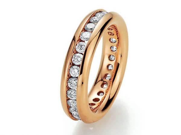 Memoire Ring Roségold 1 ct Brillanten