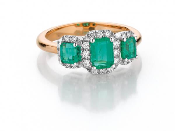 Ring zertifizierte Smaragde ausKolumbien