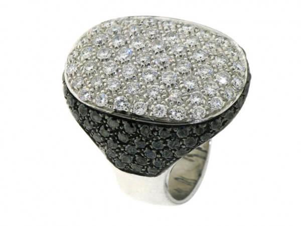 Ring 750 Weißgold mit Diamanten