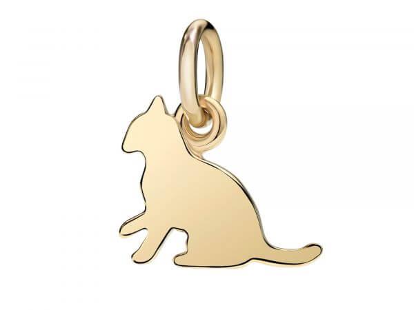 Dodo Charms kleine Katze aus Gelbgold