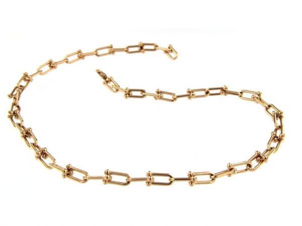 Halskette Schekel Roségold 5,4 x 10,5 mm