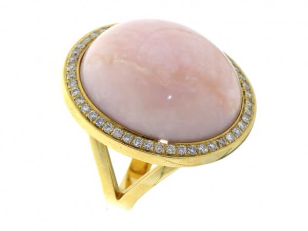 Ring 750 Roségold pink Opal,Brillanten