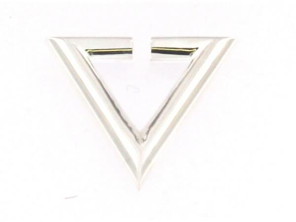Creole Dreieck Silber poliert