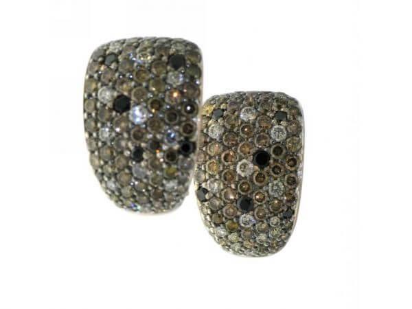 Ohrringe 750 Roségold mit Diamanten
