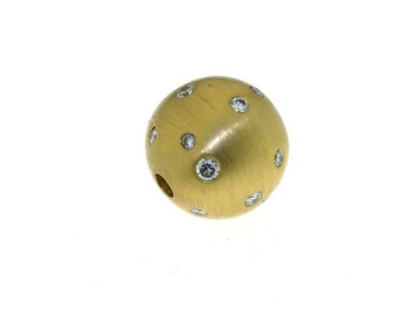 Wechselschließe 14 mm Gelbgold mattiert