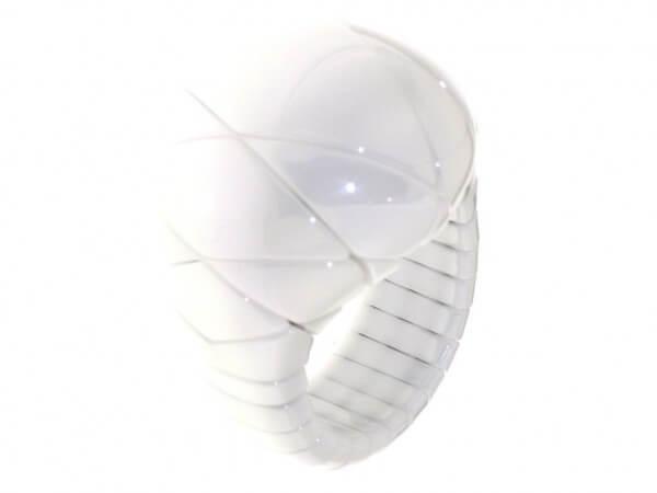 Ring Aura Diva aus weißer Keramik