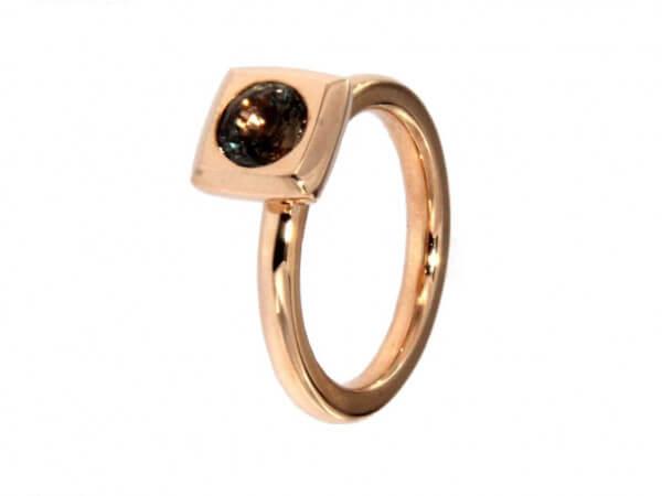 "Ring "" Mila"" aus Roségold brauner Safir"