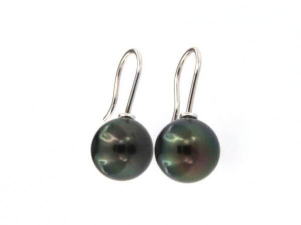 Ohrhaken mit Tahiti Perlen 10-11 mm