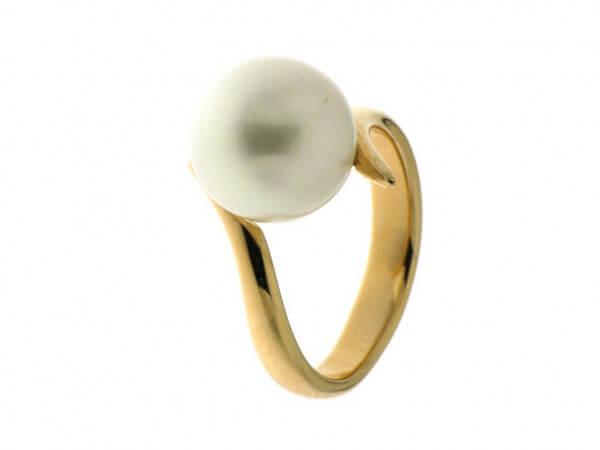 Ring Roségold mit Südsee Perle 11-12 mm