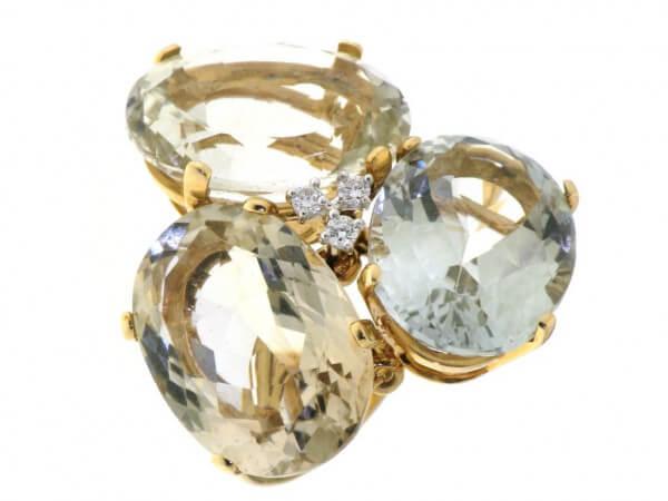 Ring Roségold mit multicolor Quarzen