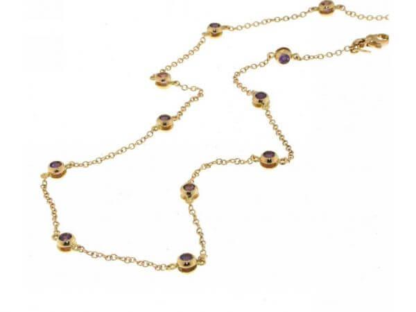 Collier 750 Rosegold, Turmalin Amethyst