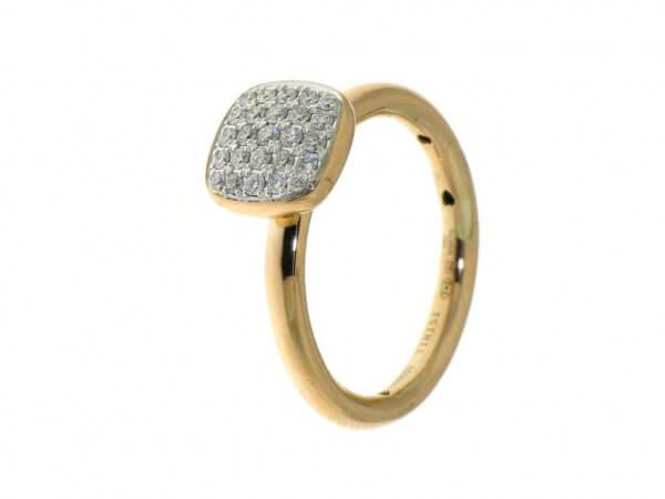 Ring Rosé und Weißgold mit Brillanten