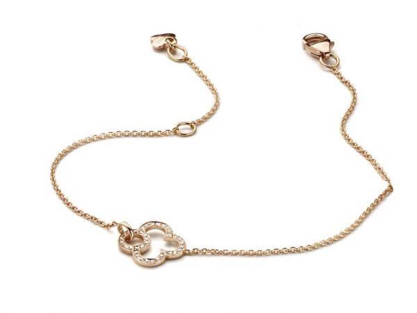 Armband aus Roségold mit Diamanten