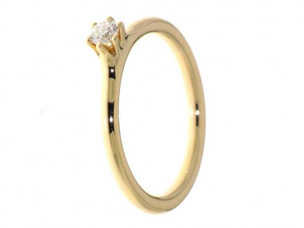 Solitär Ring aus Roségold Brillant 0,11