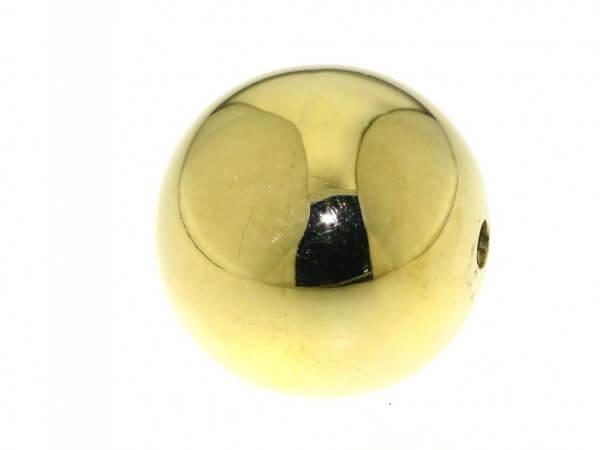 Kugelschließe 750 Gelbgold 20mm