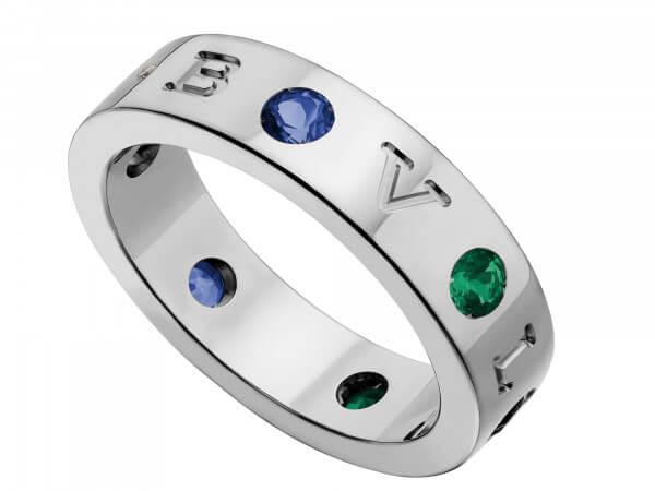 Bulgari Bulgari Ring mit Safir,Tsavorith