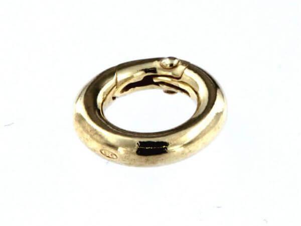 Ringverschluß 12 mm Silber vergoldet