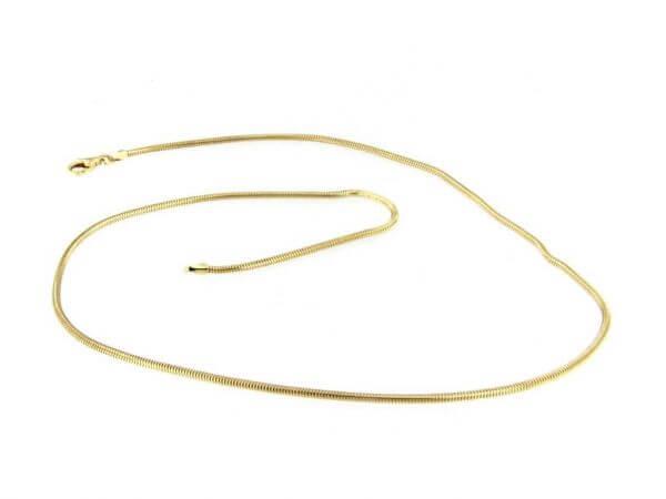 Schlangenkette aus Gelbgold 1,6 mm