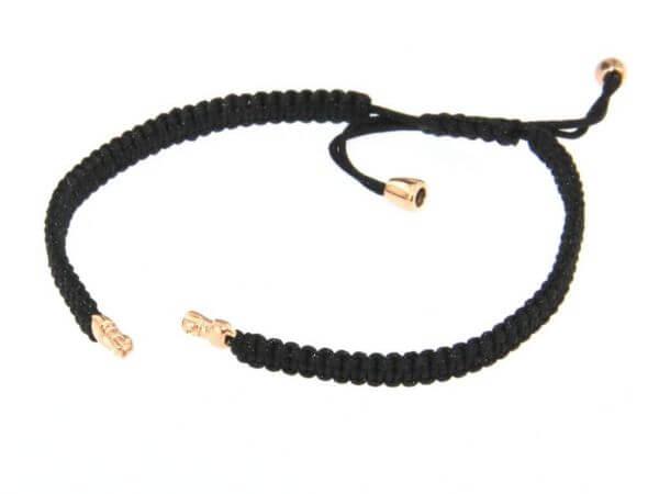 Armband Stoff schwarz mit Patenten