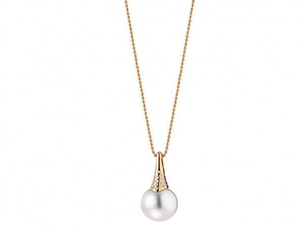 Lange Kette mit Südsee Perle 14-15 mm