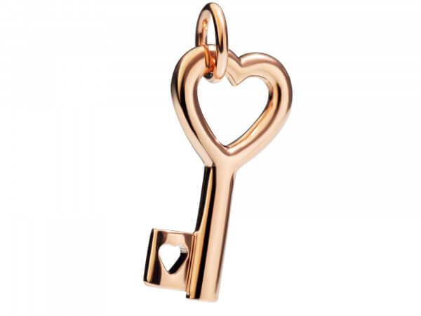 Dodo Charms Schlüssel aus 9 kt Roségold