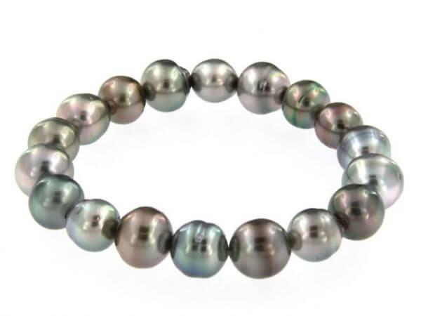 Stretch Armband mit Tahiti Perlen 9-12mm