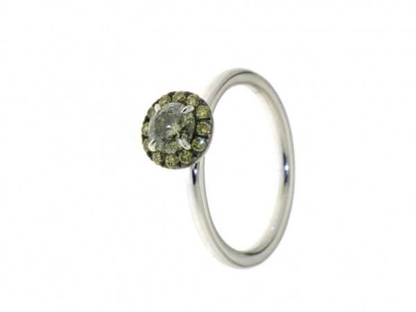 Ring Plaisier aus Weißgold mit Diamanten