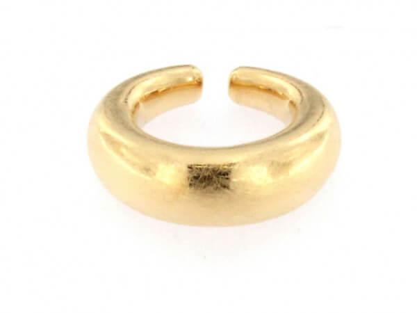 Creole bauchig Ø 19,3 mm eismatt goldpl.