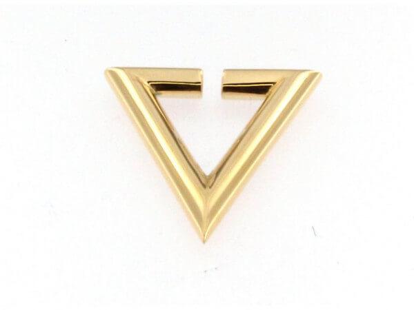 Creole Dreieck Silber poliert goldplatt.