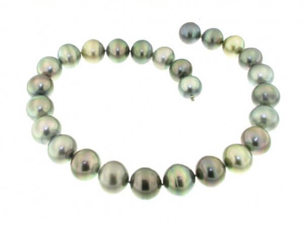 Tahiti Perlenkette multicolor 15-18 mm