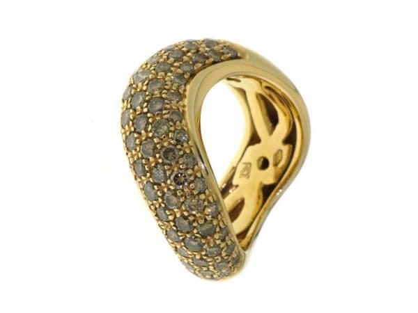 Ring aus Roségold mit braunen Brillanten
