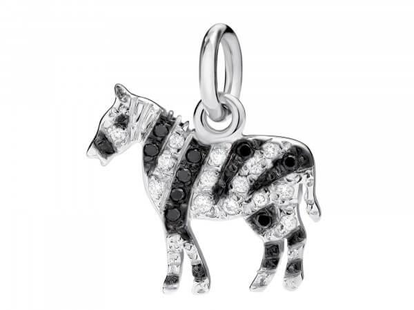 Dodo Charms Zebra Weißgold mit Diamanten