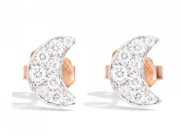 Dodo Ohrstecker Mond mit Diamanten
