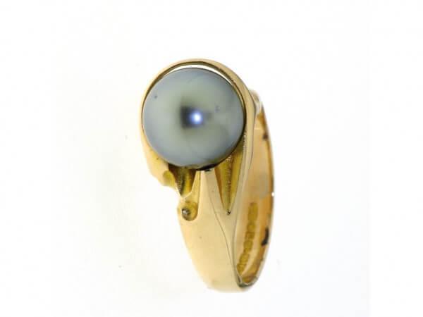 Lapponia Ring 750 Gelbgold Tahiti Perle