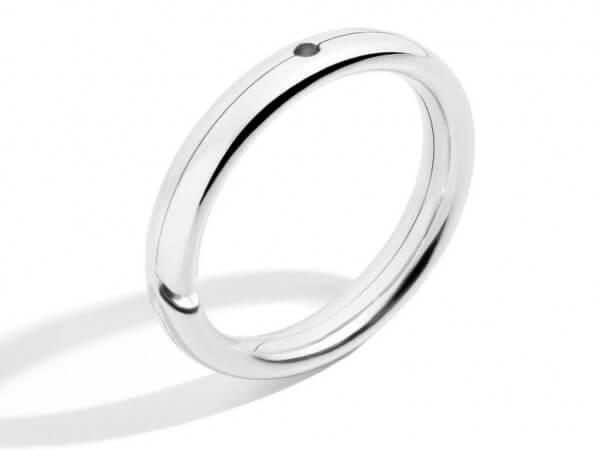 Dodo Brise Ring aus Weißgold