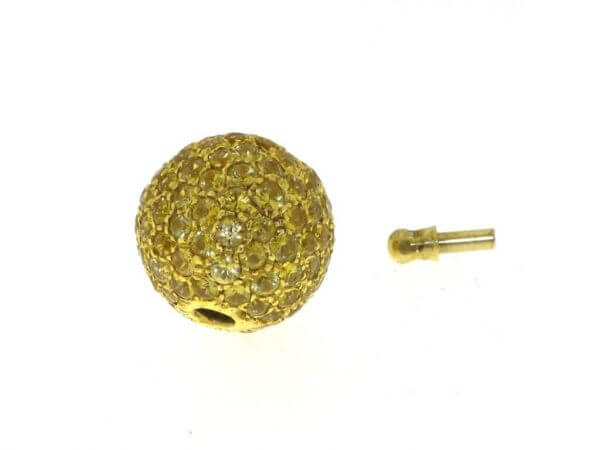Schließe Gelbgold 13,5mm gelbe Safire