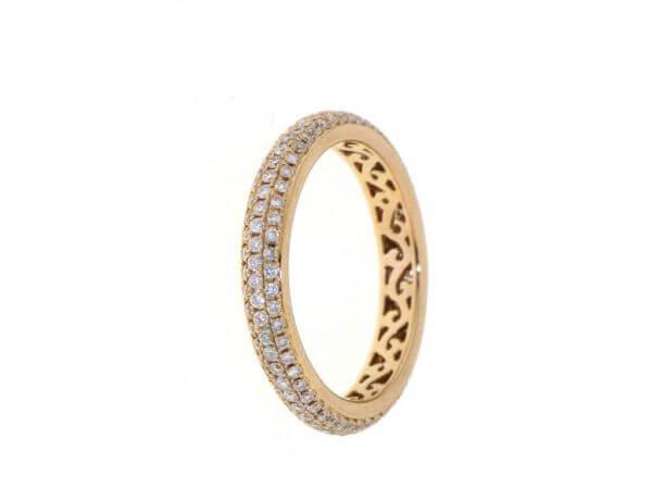 "Ring ""Allure"" aus Roségold 3,21 mm breit"