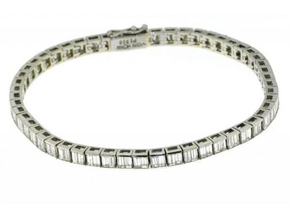 Armband aus Plating mit Diamant Baguette