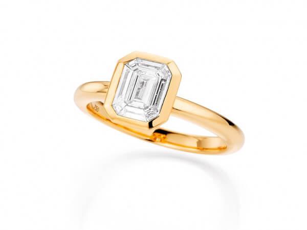 """Ring mit Diamanten """"look like 2 ct"""""""