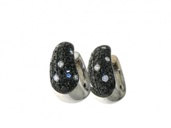Creolen 750 Weißgold mit Diamanten