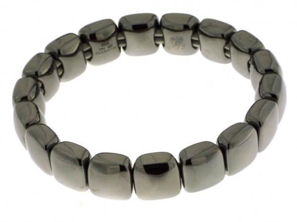 Armband aus Silber poliert rutheniert