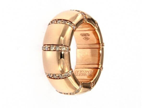 Ring flexibel aus Roségold mit Brillant