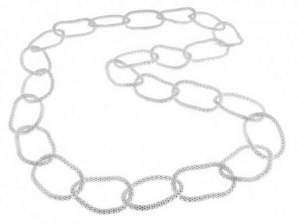 Panda Kette aus Silber mit 3,6 mm Ringen