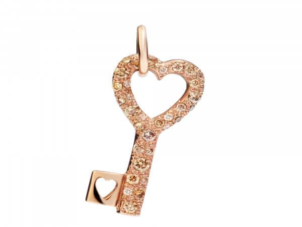 Dodo Anhänger Schlüssel mit Brillanten