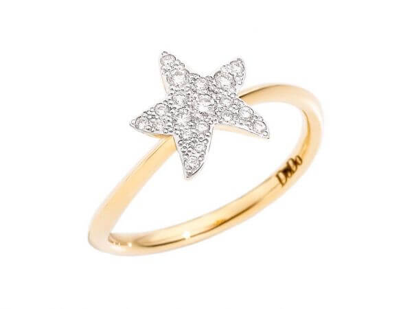Dodo Icon Ring klein Seestern,Brillanten
